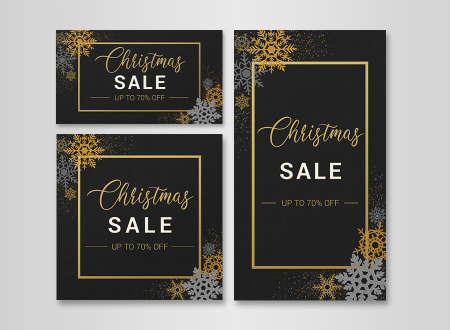 Golden Christmas Sale Social Media Package