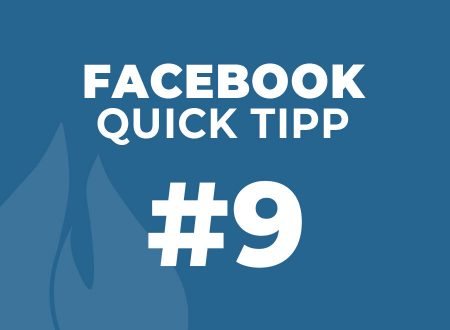 Facebook Quick Tipp #9