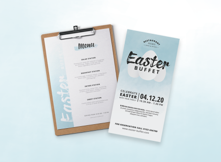 Easter Buffet Watercolor Menu
