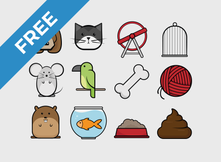 Comic Pets Icon Set free