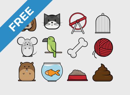 Comic Pets Icon Set free