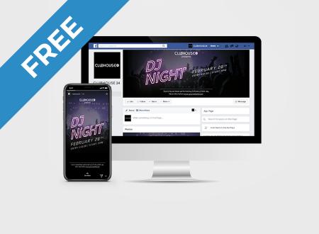DJ Night Social Media Pack free
