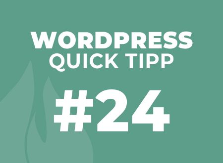 WordPress Quick Tipp #25