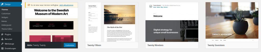 WordPress Design > Themes