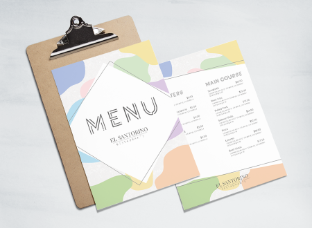 Abstract Pastel Menu