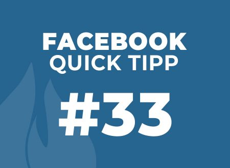 Facebook Quick Tipp #33