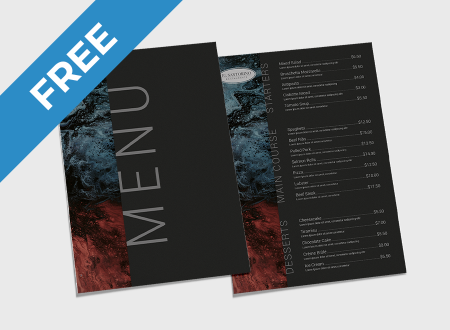 Dark Abstract Menu Free