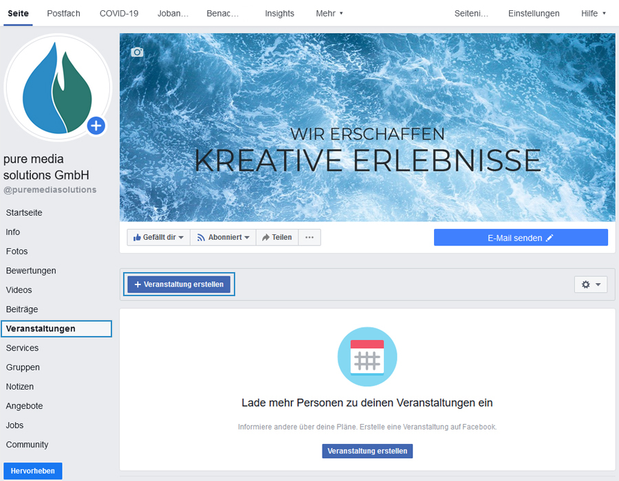 Facebook Veranstaltung erstellen
