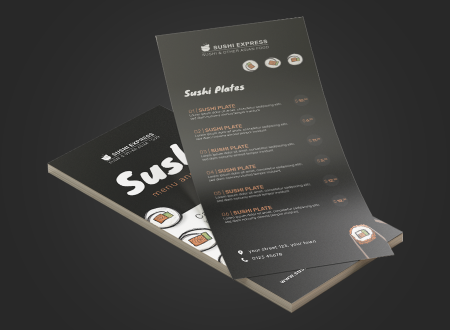 Illustrated Sushi Menu