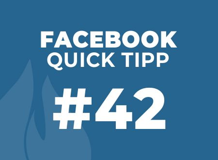 Facebook Quick Tipp #42