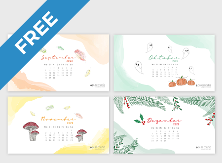 Monthly Wallpaper Calendars Freebie