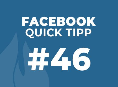Facebook Quick Tipp #46