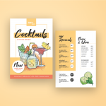 Illustrated Cocktail Menu – envato market