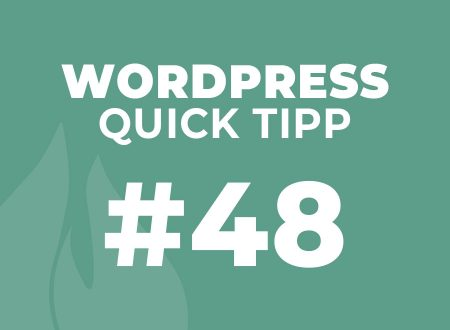 WordPress Quick Tipp #48
