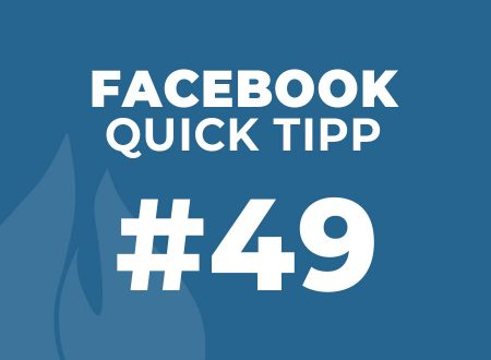 Facebook Quick Tipp #49