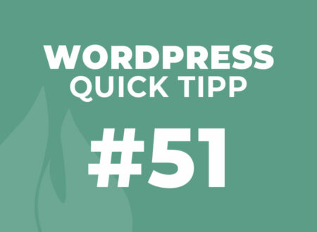 WordPress Quick Tipp #51