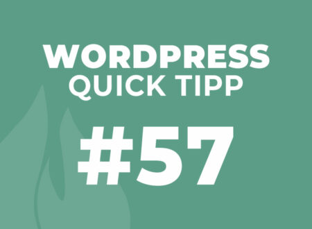 WordPress Quick Tipp 57