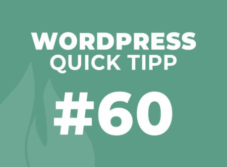 WordPress Quick Tipp #60