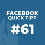 Facebook Quick Tipp #61: Vorgefertigte Fragen an Kunden im Messenger versenden