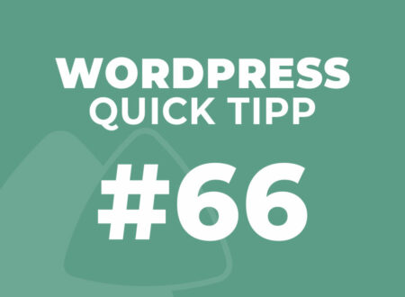 WordPress Quick Tip #66