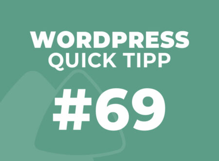 WordPress Quick Tipp #69