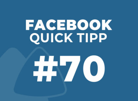 Facebook Quick Tipp #70