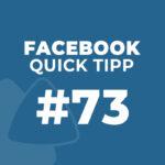 Facebook Quick Tipp #73: Seiten-Tabs festlegen und anordnen