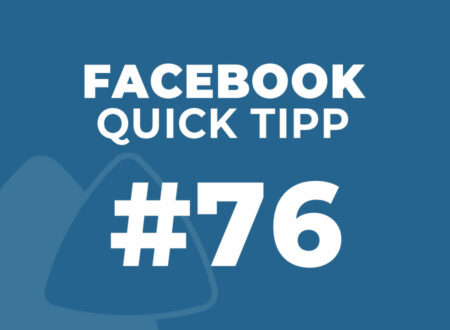 Facebook Quick Tipp #76