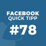 Facebook Quick Tipp #78: Als Unternehmensseite liken & kommentieren – Neues Design 2021