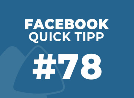 Facebook Quick Tipp #78