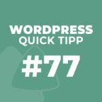 WordPress Quick Tipp #77: Elementor Navigator und Templates