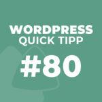 WordPress Quick Tipp #80: Animationen mit Elementor