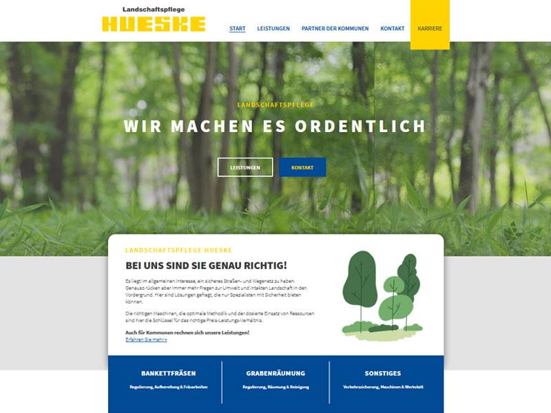 Landschaftspflege Hueske Website Relaunch