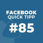 Facebook Quick Tipp #85: Automatisierte Antwort – Bewerbung erhalten