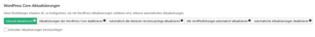 Easy Updates Manager: WordPress-Core-Aktualisierungen