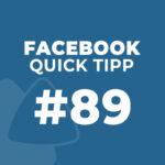 Facebook Quick Tipp #89: Automatische Beiträge beim Aktualisieren der Seiten-Infos verhindern